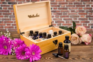 Welledia Essential Oil Storage Wooden Box