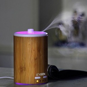 ECVISION 150ML Bamboo Aromatherapy Air Humidifier Essential Oil Diffuser