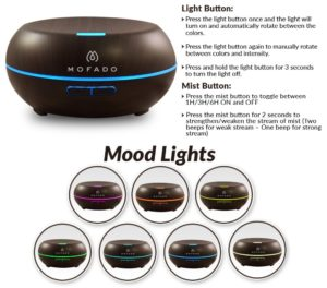 mofado aromatherapy diffuser mood lights