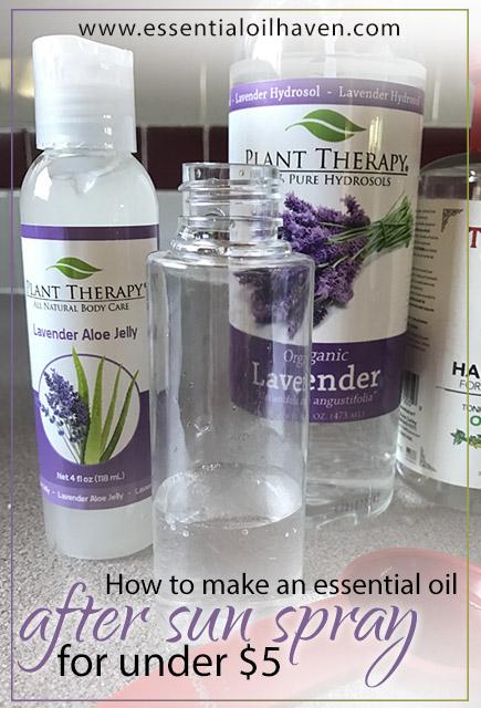 essential oil spray as natural sunburn remedy