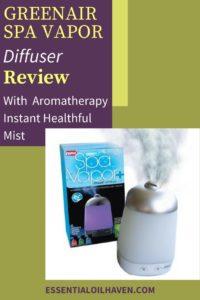 spa vapor oil diffuser review