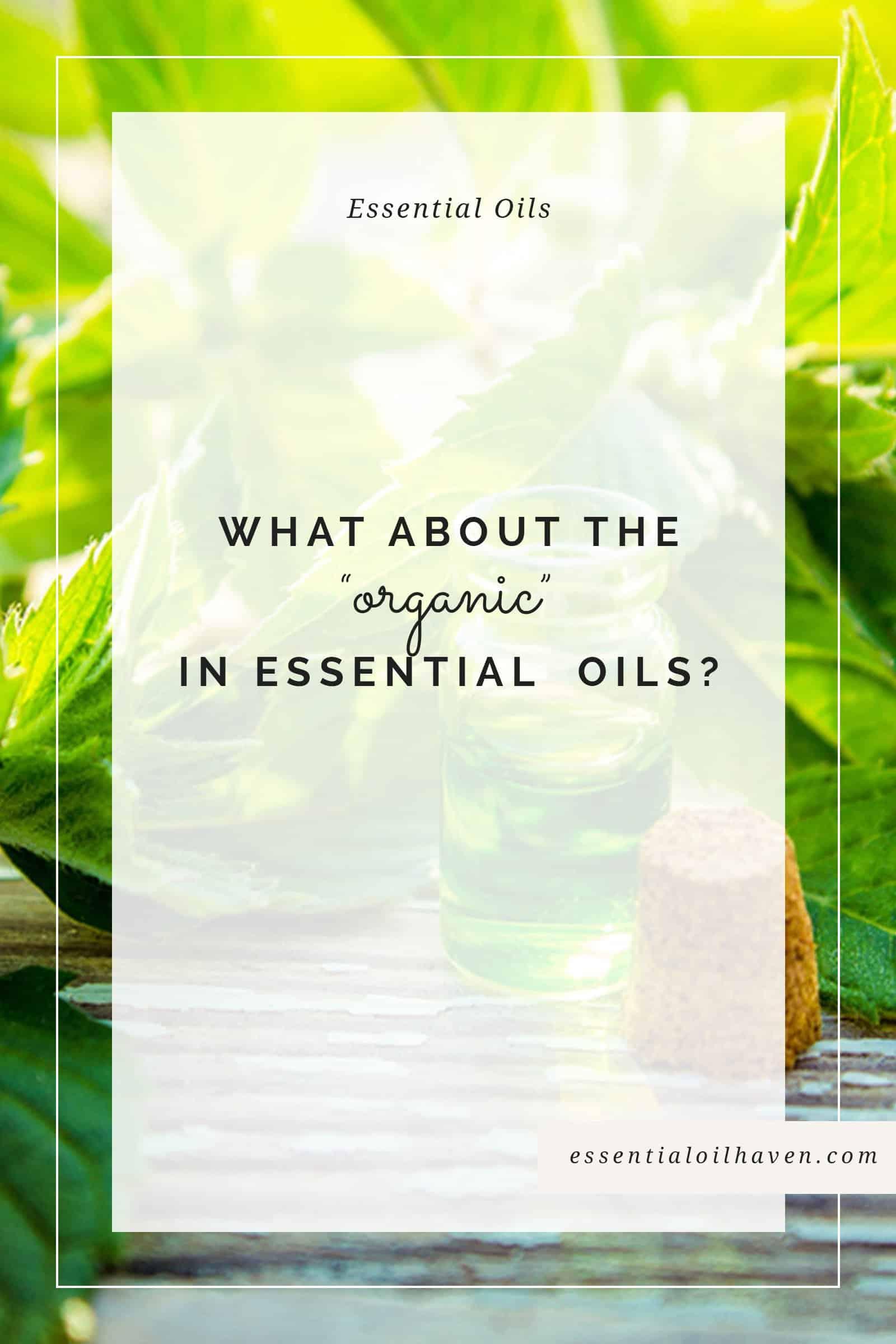 organic essential oils guide