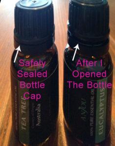 Anjou essential oils bottle cap safe seal