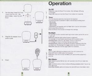 diffuser operation
