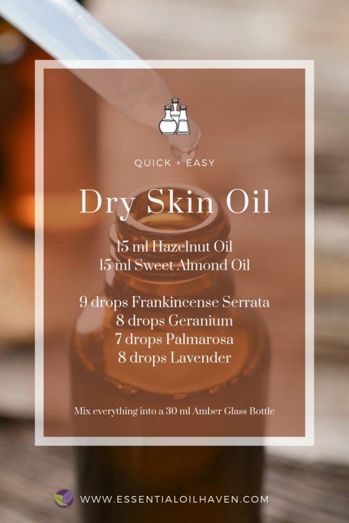 essential oil blend recipe for dry skin
