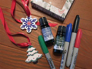 christmas craft with essential oils