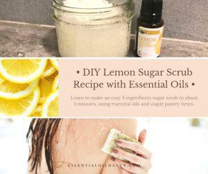 sugar scrub diy easy with essential oils