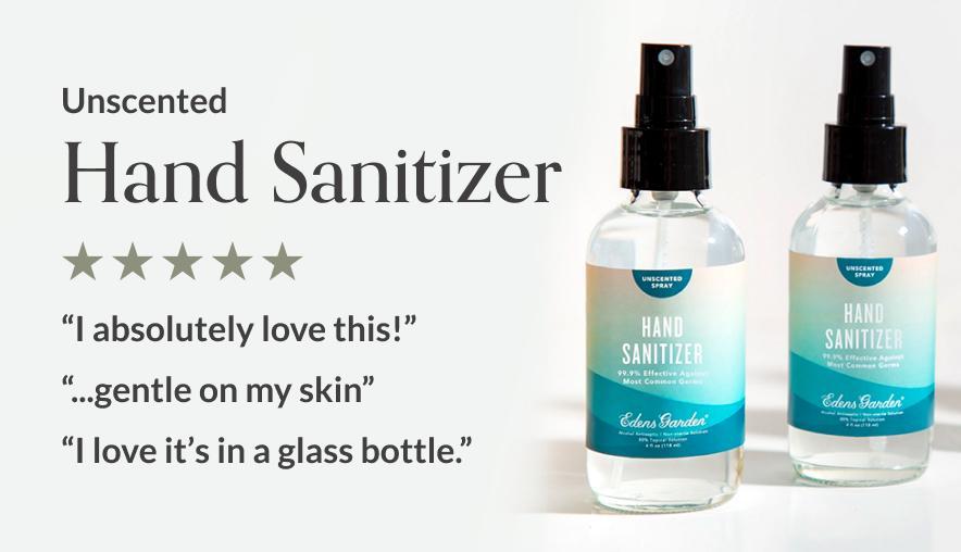 Unscented Hand Sanitizer Spray from Edens Garden